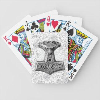 Mjölnir in silver - Playing Cards 1