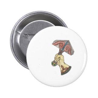Mjolnir Pin Redondo De 2 Pulgadas