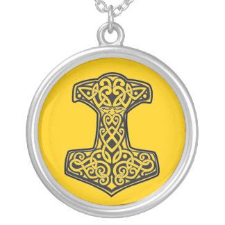 Mjölnir Silver Plated Necklace