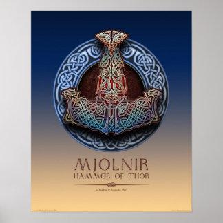 Mjolnir - Thor s Hammer Poster 16x20