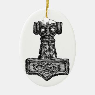 Mjolnir: Thor's Hammer Ceramic Ornament