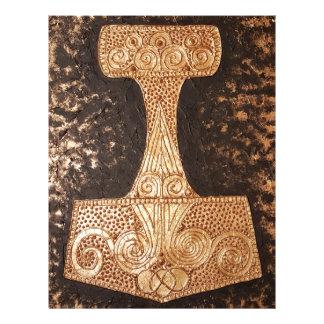 Mjolnir, thor's hammer letterhead