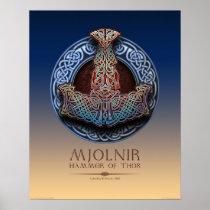 """Mjolnir - Thor's Hammer Poster (16x20"""")"""