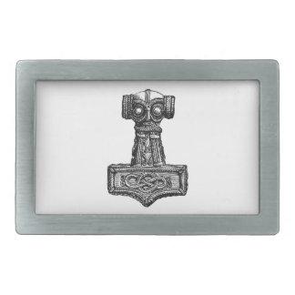 Mjolnir: Thor's Hammer Rectangular Belt Buckle