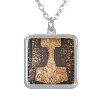 Mjolnir, thor's hammer silver plated necklace