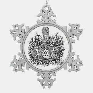 Mjolnir - Valknut Ornament