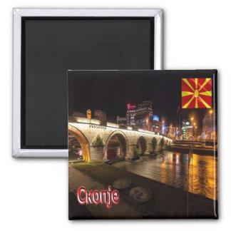MK - Macedonia-Skopie-Puente sobre el río Vardar Imanes