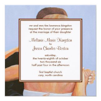 "MKB Wedding Day Framed Square Wedding Invitation 5.25"" Square Invitation Card"