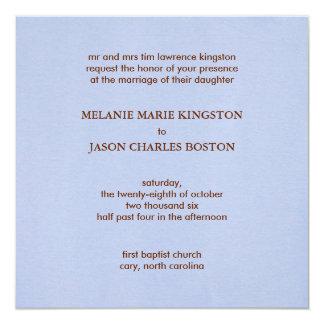 "MKB Wedding Day Square Wedding Invitation 5.25"" Square Invitation Card"