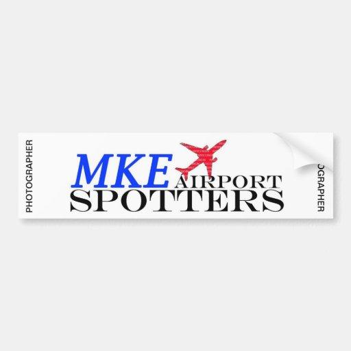 MKE Airport Spotters Bumper Sticker