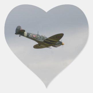 MKIX Spitfire Model Heart Sticker