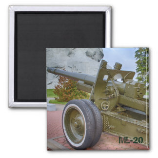 ML-20 howitzer 2 Inch Square Magnet