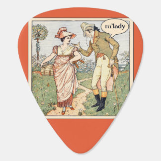 mlady neckbeard humor guitar pick