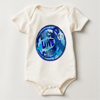 mld  AWARENESS PEACE LOVE CURE Baby Bodysuit