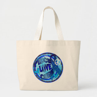 mld  AWARENESS PEACE LOVE CURE Canvas Bags