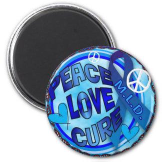 mld  AWARENESS PEACE LOVE CURE Magnet
