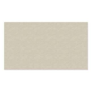 MLE NEUTRAL TAN DECORATIVE  EMBOSSED PATTERN TEXTU Double-Sided STANDARD BUSINESS CARDS (Pack OF 100)