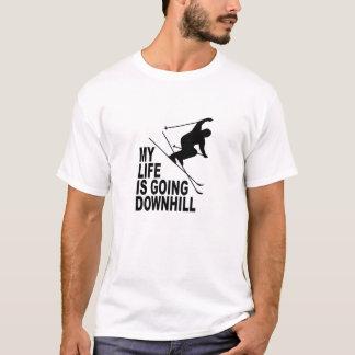 MLIGD - Skier - white shirt - black design