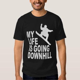 MLIGD - Snowboarder - black shirt - white design