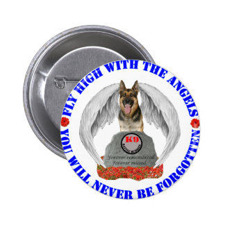 Mlitary Working Dogs Pinback Button