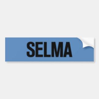 MLK Day-Selma Black on Blue Bumper Sticker