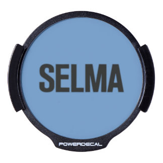 MLK Day-Selma Black on Blue LED Window Decal