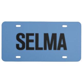 MLK Day-Selma Black on Blue License Plate