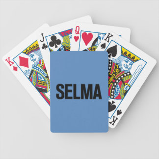 MLK Day-Selma Black on Blue Bicycle Playing Cards