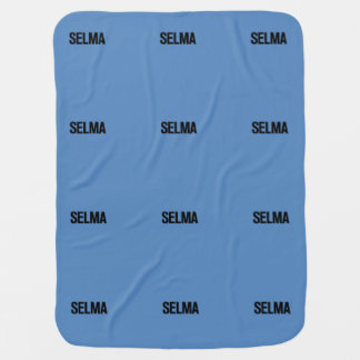 MLK Day-Selma Black on Blue Swaddle Blanket