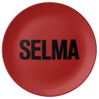 MLK Day- Selma Black on Red Plate