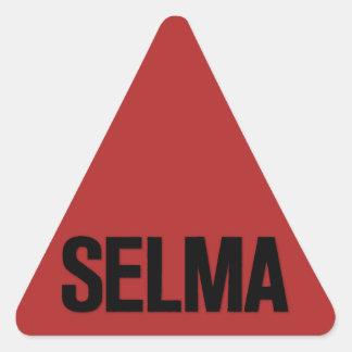 MLK Day- Selma Black on Red Triangle Sticker