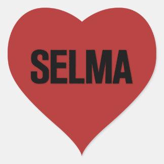 MLK Day- Selma Black on Red Heart Sticker