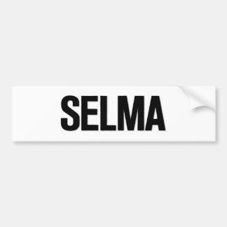MLK Day- Selma Black on White Bumper Sticker