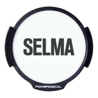MLK Day- Selma Black on White LED Car Decal