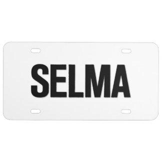 MLK Day- Selma Black on White License Plate