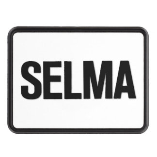 MLK Day- Selma Black on White Trailer Hitch Cover