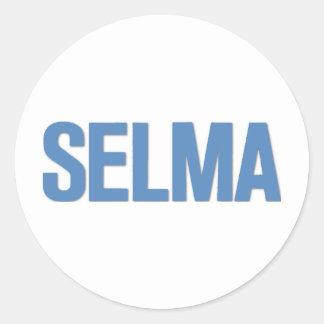 MLK Day-Selma Blue Classic Round Sticker