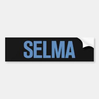 MLK Day-Selma Blue on Black Car Bumper Sticker