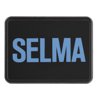 MLK Day-Selma Blue on Black Hitch Cover