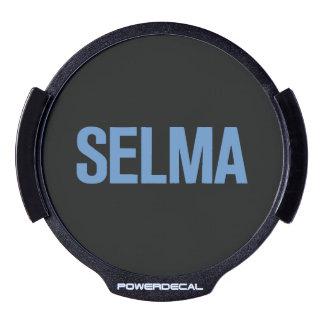 MLK Day-Selma Blue on Black LED Window Decal