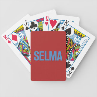 MLK Day-Selma Blue on Red Bicycle Playing Cards