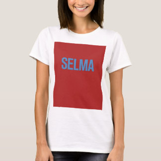 MLK Day-Selma Blue on Red T-Shirt