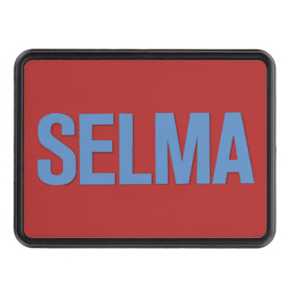 MLK Day-Selma Blue on Red Trailer Hitch Cover
