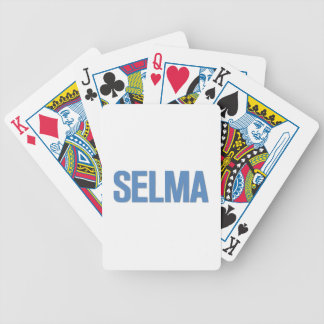 MLK Day-Selma Blue Bicycle Playing Cards