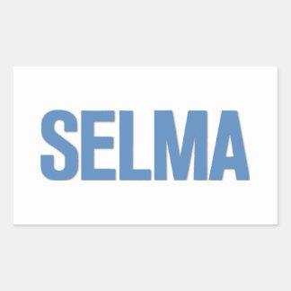 MLK Day-Selma Blue Rectangular Sticker