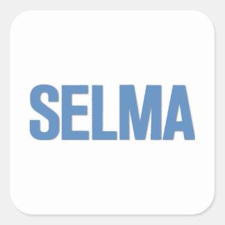 MLK Day-Selma Blue Square Sticker