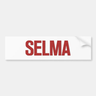 MLK Day-Selma Red Bumper Sticker