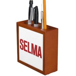 MLK Day-Selma Red Desk Organizer