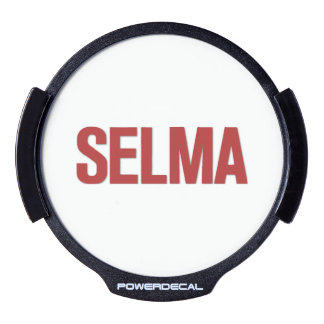 MLK Day-Selma Red LED Window Decal