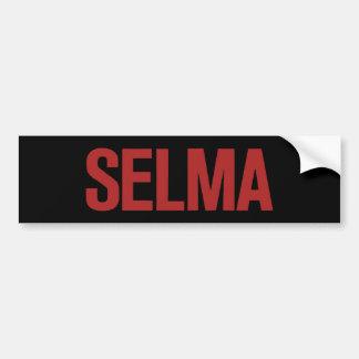 MLK Day-Selma-Red on Black Bumper Sticker